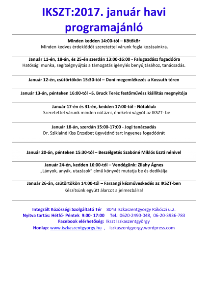 /home/iszkaszentgyorgy/public html/wp content/uploads/2017/01/170105 2017. január havi programajánló honlapra