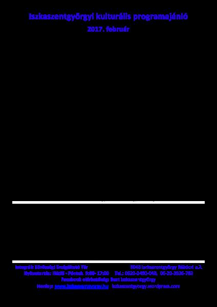 /home/iszkaszentgyorgy/public html/wp content/uploads/2017/02/170202 2017 február havi programajánló
